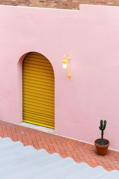 Home decor colour palette inspiration - pink and yellow Tile Showroom, Showroom Design, Interior Design, Mellow Yellow, Pink Yellow, Pink Color, Yellow Doors, Boho Home, Design Websites
