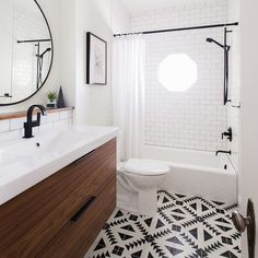 10 Beyond Stylish Bathrooms with Patterned Encaustic Tile | Sarah Sarna | A Lifestyle BlogSarah Sarna | A Lifestyle Blog