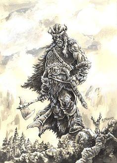 Viking II by *ricardoafranco on deviantART Tatto Viking, Viking Warrior Tattoos, Norse Tattoo, Viking Art, Norway Viking, Nordic Vikings, Asatru, Desenho Tattoo, Norse Mythology