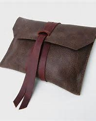 Image result for leather and wood clutch