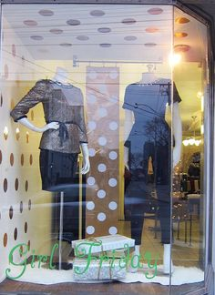 Recent Project: Girl Friday Holiday Window | recreative works blog
