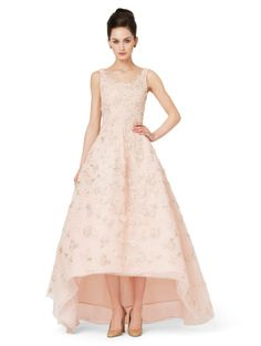 EMBROIDERED GOWN WITH FULL SKIRT - Oscar de la Renta Gowns - Designer Evening Gowns by Oscar De La Renta - Oscar de la Renta