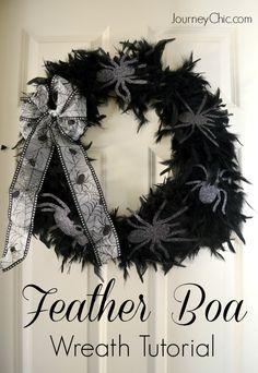Quick & Easy Halloween Feather Wreath