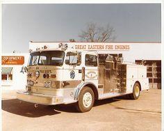 Boonton (?) Fire Dept pumper truck Boonton, NJ Orig 7 3/4x10 Photo B119
