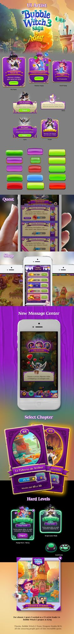 UI Artist Bubble Witch 3 on Behance
