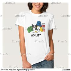 Tricolor Papillon Agility Dog Shirt