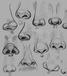 Art Drawings Sketches Simple, Pencil Art Drawings, Flower Sketches, Dress Sketches, Nose Drawing, Drawing Faces, Drawing Tips, Drawing Techniques, Sketch Drawing