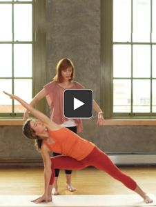 This dynamic flow sequence has you ground down while also expanding outward, opening to possibility.