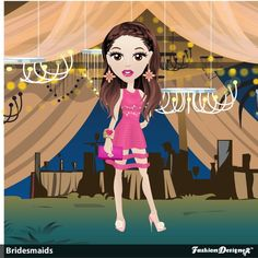 I got 3rd place for this design on theme of Bridesmaid, Fashion Designer Game on facebook