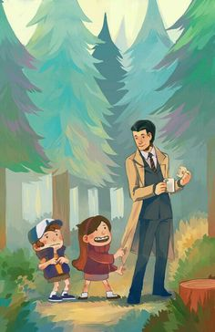 Gravity falls twin peaks | Dipper and Mabel meeting Special Agent Dale Cooper