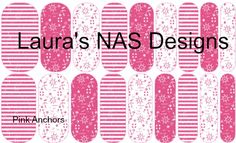 Pink Anchors #NAS #Jamberry #NailArtStudio #NailArt #DIY #laurasnasdesigns #pink #anchors #nautical
