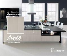 MDF Avelã | Cozinha Avelã | Linha Naturale | MDF Guararapes #MDF #decoraçãoMDF #decoração #DesignInteriores #padrõesMDF #homedecor #decoração #cozinha #peçasMDF