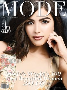"""Olivia Culpo - The #1 most beautiful woman in the world - Mode Lifestyle Magazine 2016.  Olivia Culpo Is On The Cover of The Multi-Cover 2020 Collector's Edition Update of """"MODE LIFESTYLE MAGAZINE WORLD'S 100 MOST BEAUTIFUL WOMEN 2016"""" Edition Olivia Culpo, The Collector, Most Beautiful Women, Bangs, The 100, Hollywood, Magazine, Lifestyle, World"""