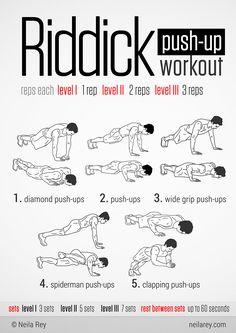 Riddick Push-Up Workout