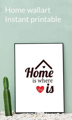Instant download for your picture gallery in your home. Easy download wall art.  | Instant download | wall art | Etsy | #printable #wallart Printing Services, Online Printing, Ikea Picture Frame, Ikea Frames, Print Store, Where The Heart Is, Digital Illustration, Etsy Store, Digital Prints