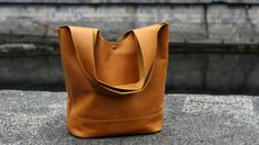 Genuine leather tote, handmade bag for women, handbag from leather,  LB0301 Yellow
