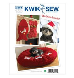 Pet Stockings, Pillow, Santa Hat