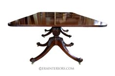regency hand carved double pedestal rectangular dining table