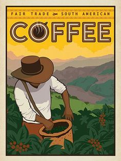 americano coffee Fair Trade South American Coffee - Take a tastebud adventure to South America Coffee Logo, Coffee Poster, Coffee Art, Hot Coffee, Coffee Drinks, South America Animals, South America Map, Cafe Posters, Colombian Art