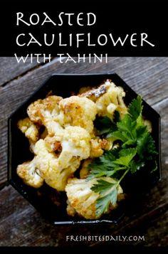 Roasted cauliflower with tahini