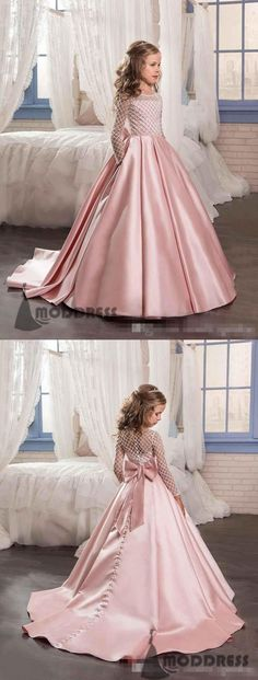 Flower Girl Dresses Princess Pageant First Communion Dresses Kids' Wedding Birthday Ball Gowns,HT027
