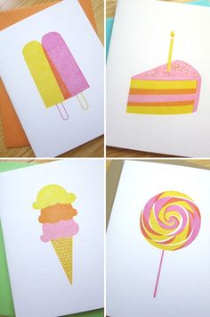 Studio Slomo letterpress Sweets Cards seen on Paper Crave