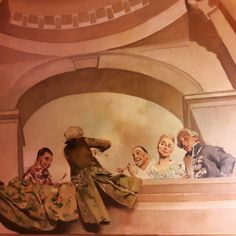 Carnival of Venice. Stunning trompe l'oeil ceiling painting in one of Lisbon's precious hidden gems. #carnivalofvenice #columbanobordalopinheiro #trompeloeil #painting #art #frescoes #19thcentury #lisbonpalaces #lisbon #hiddengems #lisbontailoredtours #lisbonwithpats