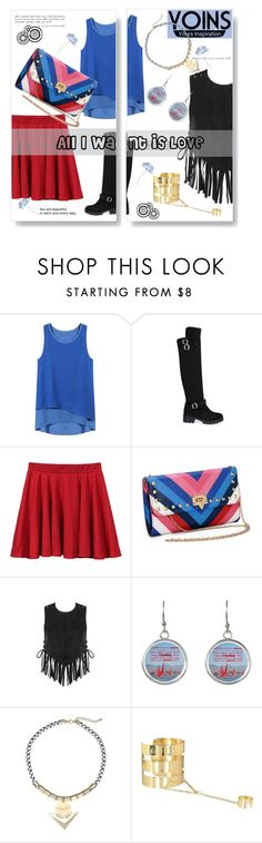 """White Yoins"" by linkfari ❤ liked on Polyvore featuring yoins"