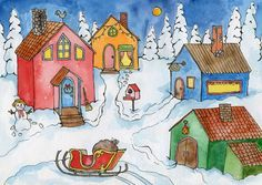 Papunetin joulukalenteri Christmas Calendar, Elementary Art, Holidays And Events, Art Projects, Merry Christmas, Painting, School, Advent Calendar, Pictures