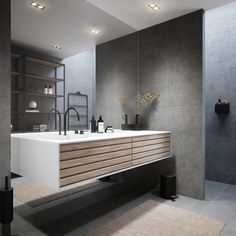 Bathroom Interior, Double Vanity, House, Bathing, Home, Haus, Houses, Decorating Bathrooms