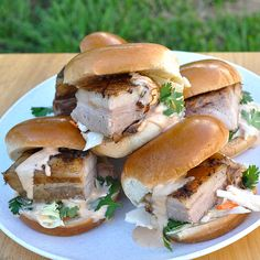 Crispy Pork Belly Sliders — No matter the toppings, this might just be the perfect sandwich.