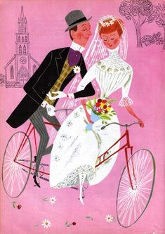Illustration by Aurelius Battaglia for 'Daisy Bell (A Bicycle Built for Two)'