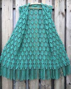 Hand Knitting Women's Sweaters Crochet Tunic Pattern, Crochet Coat, Crochet Jacket, Crochet Cardigan, Filet Crochet, Crochet Shawl, Crochet Clothes, Crochet Patterns, Swimsuit Cover Up Dress