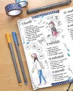 """169 Me gusta, 2 comentarios - Serena (@serylittlenotes) en Instagram: """"Daily logs on my Bullet Journal! ✨ As you can see I'm using another notebook (my third one!) and it…"""""""