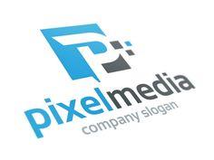Dribbble - Pixel Media - Letter P Logo by Alex Broekhuizen