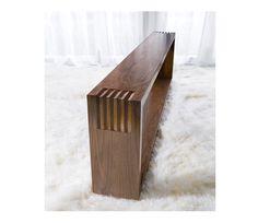 Beverly Console from Cliff Young is constructed of dark stained, plain sliced american walnut with a satin finish. Fully customizable #Console #CliffYoungLtd #ModernFurniture #CYSignature #Sliced #HomeFurnishings #HomeDecor #Furniture #Custom #SatinFinish