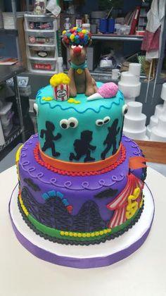 Carnival Scooby Doo Birthday Cake