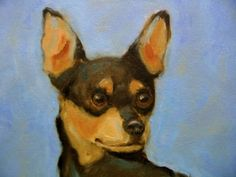 """MINIATURE PINSCHER print from an original oil painting by R. Romer 8""""x10"""" on high quality fine art paper. Signed by the artist. 