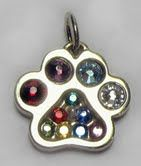 """This is a 1st for me! a Mother's Paw(TM) that holds """"12 Months"""" of crystals. I've always said that my Mother's Paw(TM) hold 8+ birthstone crystals but this is a gift for a woman who has managed a rescue for many, many years. Each month had to be represented. I did have trouble w/the 12th month so I took June out & replaced it w/a pearl (pearls also represents June)     My Mother's Paw(TM) are available in sterling or 14k ~ available @ www.puppypaws.com #dogs #cats #pets #jewelry"""