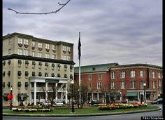 Gettysburg Hotel, Gettysburg, Pennsylvania. The square in Gettysburg.