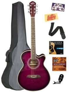 Cutaway, Schmidt, Musical Instruments, Acoustic, Electric Guitars, Purple, Bags, Amazon, Music Instruments