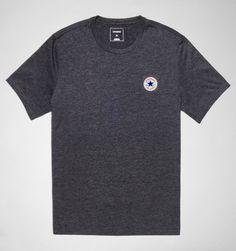 1cccd1450 Converse Clothing 10002849 Core LeftChest CP Tee 001 Black Heather T Shirt  Vest, Polo Ralph