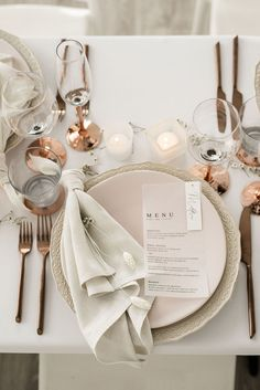 Calling all luxe brides! This Toronto crisp white wedding editorial is everything we dreamed of when it comes to elegant, crisp, luxe wedding that is still warm and inviting but totally modern and romantic -- Wedding Table Decor All White Wedding, Luxe Wedding, Wedding Details, Dream Wedding, Wedding Day, Table Wedding, Wedding Napkins, White Wedding Receptions, Wedding Menu