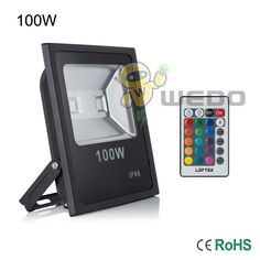 Outdoor Security and Floodlights 183393: Us Stock! 100W Led Rgb Flood Light Ultra Slim Black Shell Ip65 Garden Waterproof -> BUY IT NOW ONLY: $185.29 on eBay!