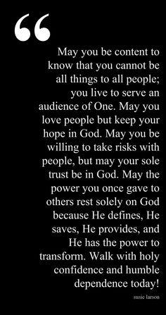 good reminder