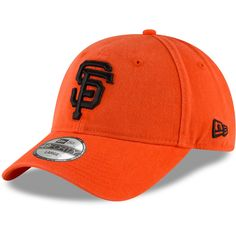 fed35c3424096 Men s San Francisco Giants New Era Orange Batting Practice Core Fit Replica  49FORTY Fitted Hat