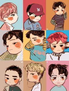 Exo fan arts : photo art exo, desenhos aleatórios и kpop Exo Lucky One, Kpop Anime, Mundo Musical, Sehun And Luhan, Park Chanyeol, Exo Fan Art, Kpop Fanart, Baekhyun Fanart, Cute Art