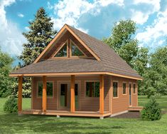 Family Cabin Design - The Cygnet by Linwood Homes Cabin Plans With Loft, Loft Floor Plans, Cabin Loft, Loft Plan, Cabin House Plans, Cabin Kits, Tiny House Plans, Unique Small House Plans, Small Cottage Plans