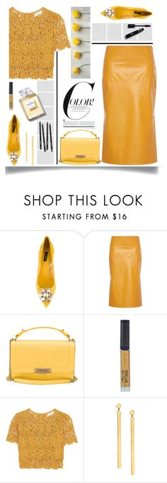 """One Color, Head to Toe"" by tamara-p ❤ liked on Polyvore featuring Dolce&Gabbana, Marni, Chanel, Oris, Winky Lux, Miguelina, Lana and monochrome"