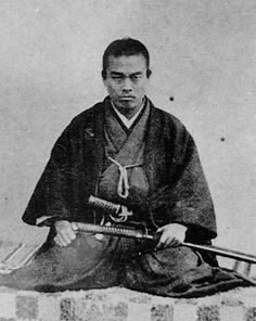 Nakaoka Shintarō was a samurai in Bakumatsu period Japan, and a close associate of Sakamoto Ryōma in the movement to overthrow the Tokugawa shogunate Geisha, Samurai Weapons, Samurai Warrior, Japanese History, Japanese Culture, Kendo, Japanese Prints, Japanese Art, Christianity In Japan